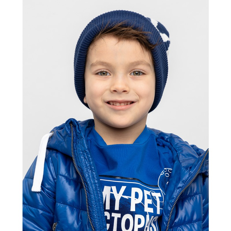 Синяя вязаная шапка Gulliver