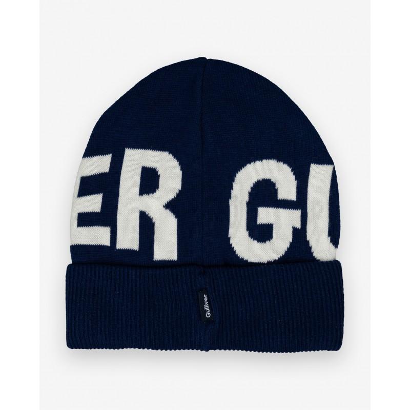 Синяя вязаная шапка Gulliver (фото 5)