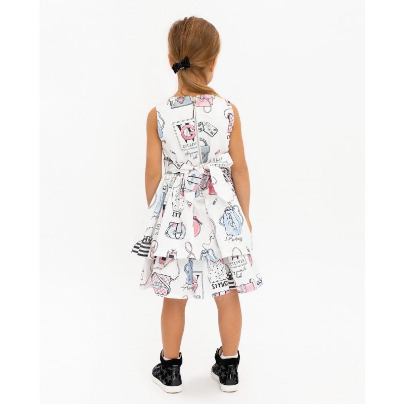 Белое платье с принтом Gulliver (фото 4)
