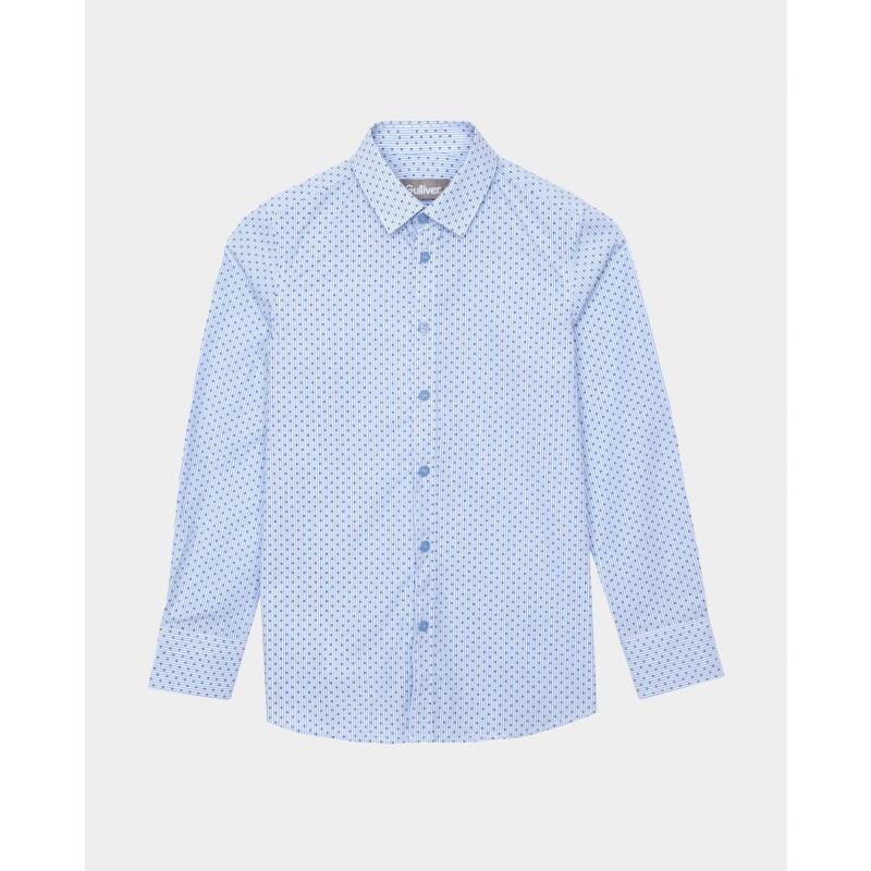 Голубая рубашка в горошек Gulliver