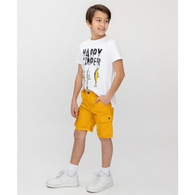Желтые шорты Button Blue (фото 3)