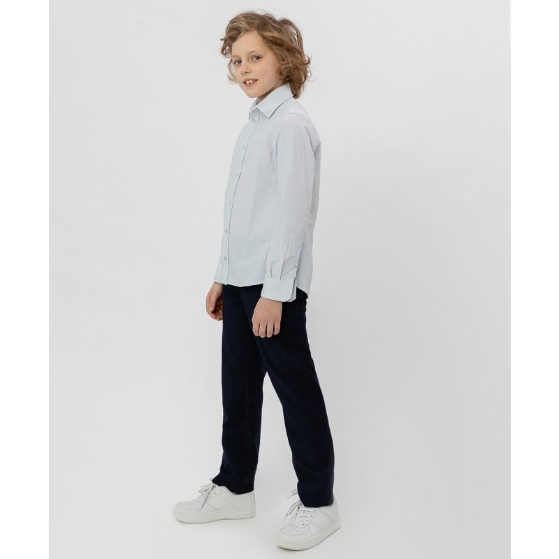 Серая рубашка в полоску Button Blue (фото 3)