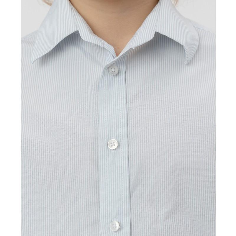 Серая рубашка в полоску Button Blue (фото 5)