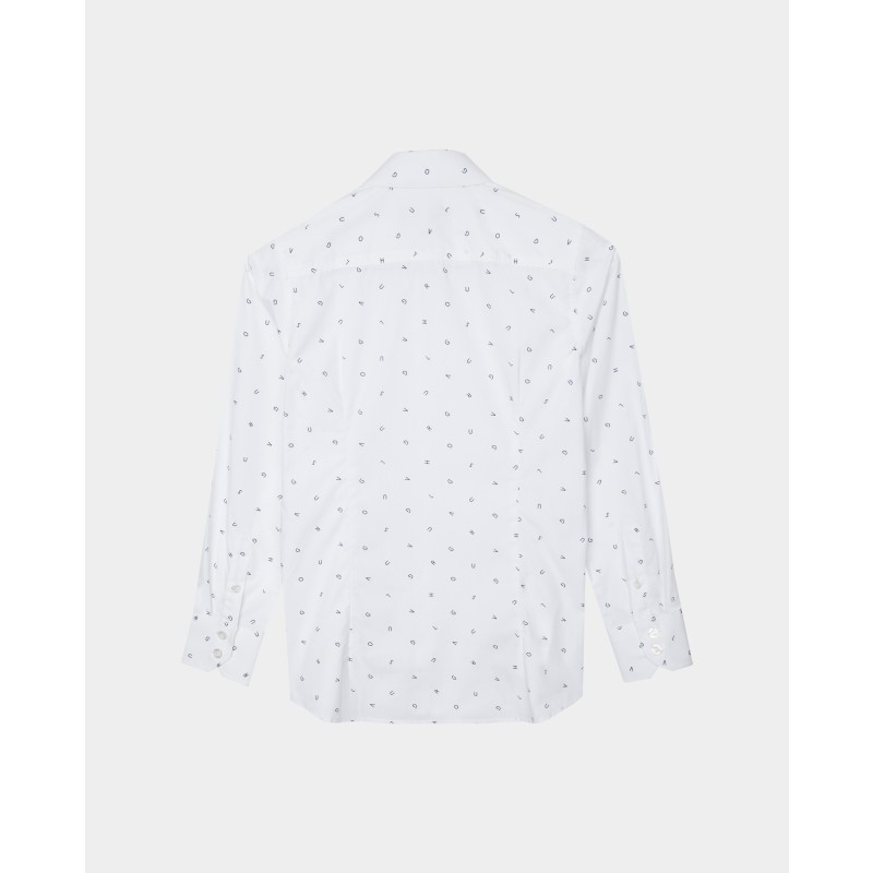 Белая рубашка с принтом Gulliver (фото 2)