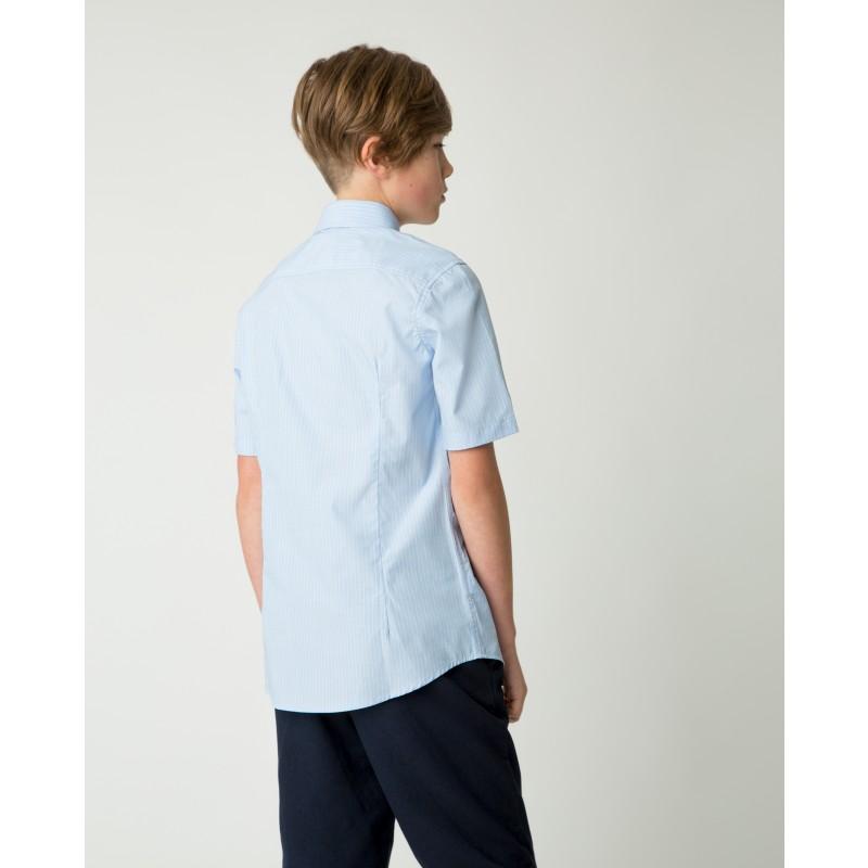 Голубая рубашка в полоску Gulliver (фото 2)
