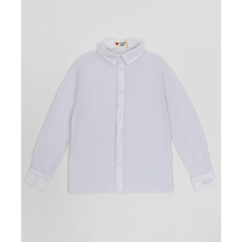 Белая рубашка на кнопках Button Blue