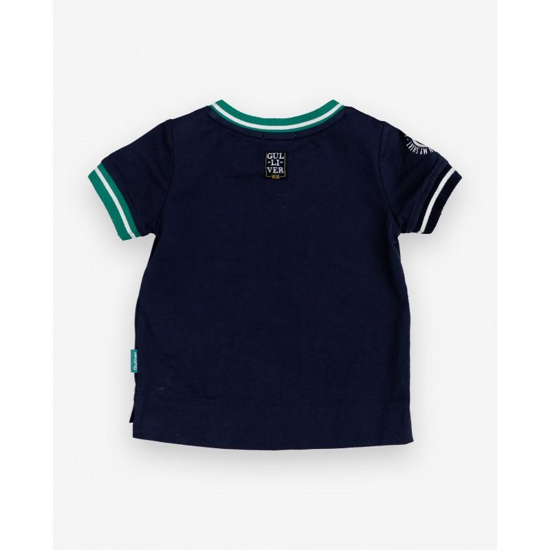 Синяя футболка с принтом Gulliver (фото 2)