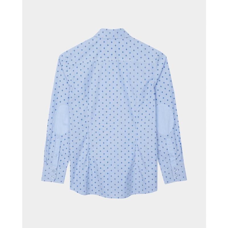 Голубая рубашка с принтом Gulliver (фото 4)