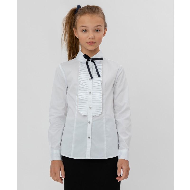 Белая рубашка с бантом Button Blue
