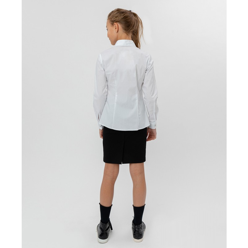 Белая рубашка с бантом Button Blue (фото 4)