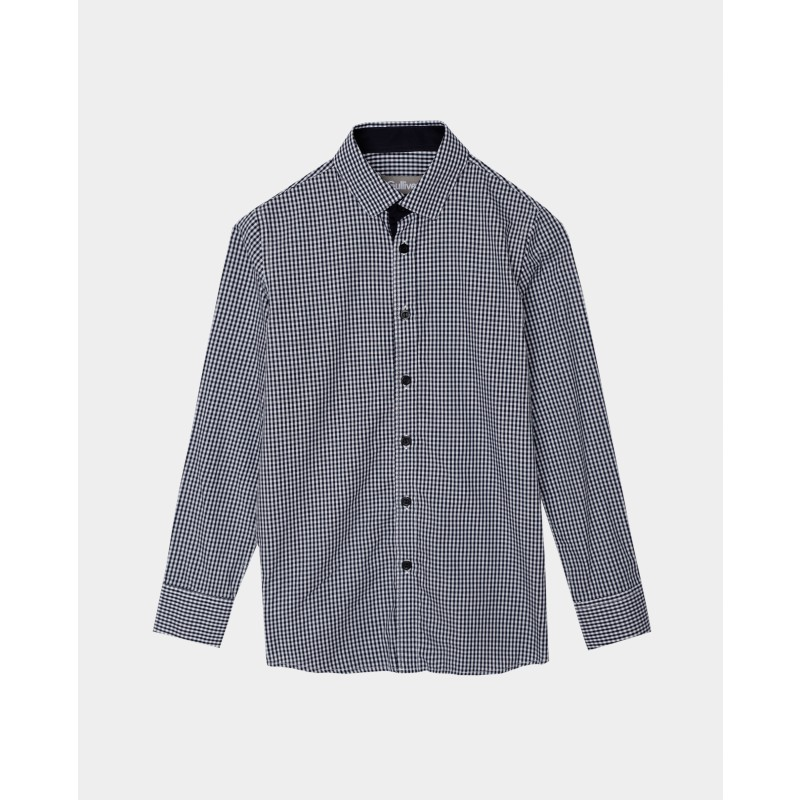 Синяя рубашка в клетку Gulliver (фото 4)