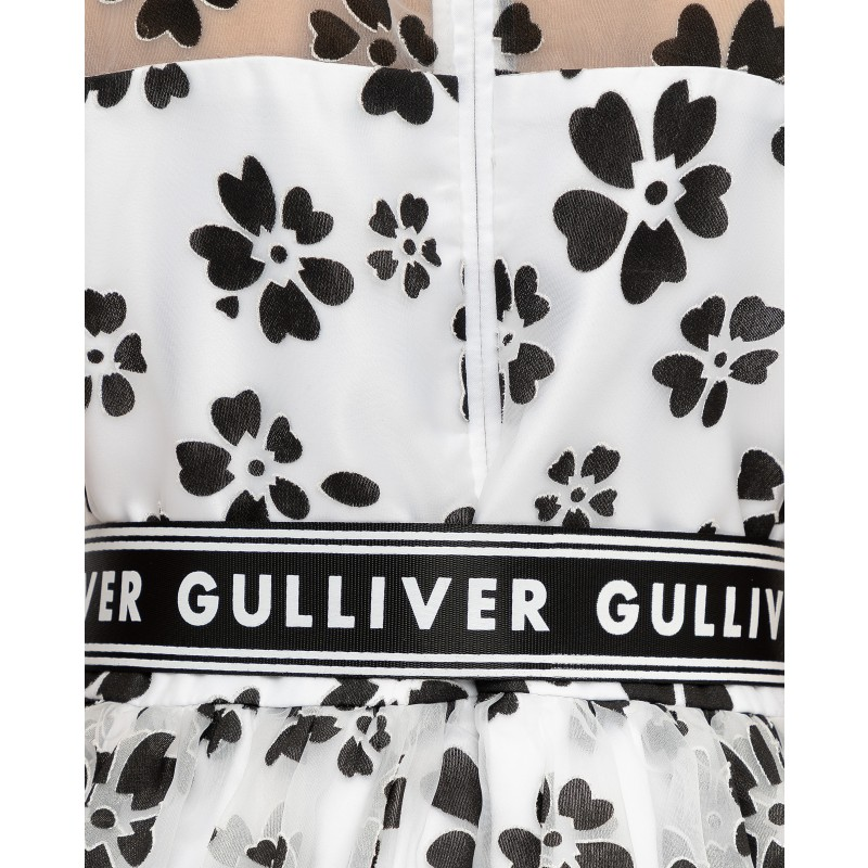 Белое нарядное платье с принтом Gulliver (фото 5)