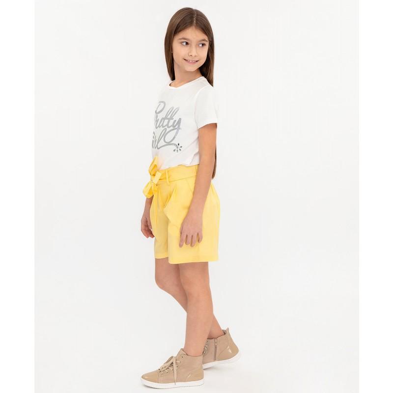 Желтые шорты с поясом Button Blue (фото 2)