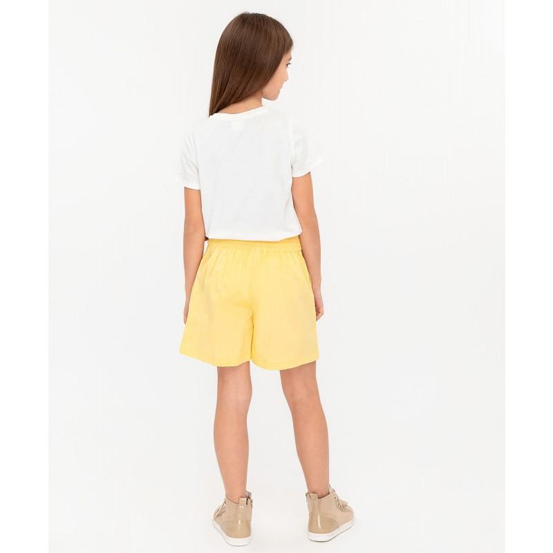 Желтые шорты с поясом Button Blue (фото 3)