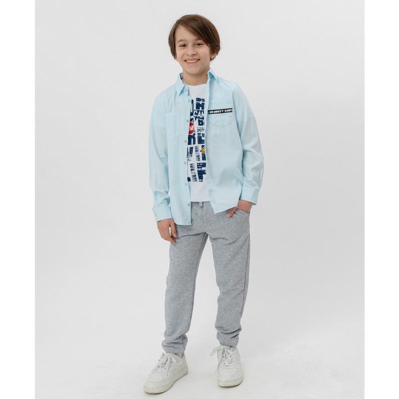 Рубашка с принтом Button Blue (фото 2)