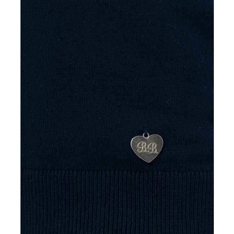 Синий трикотажный жилет Button Blue (фото 4)