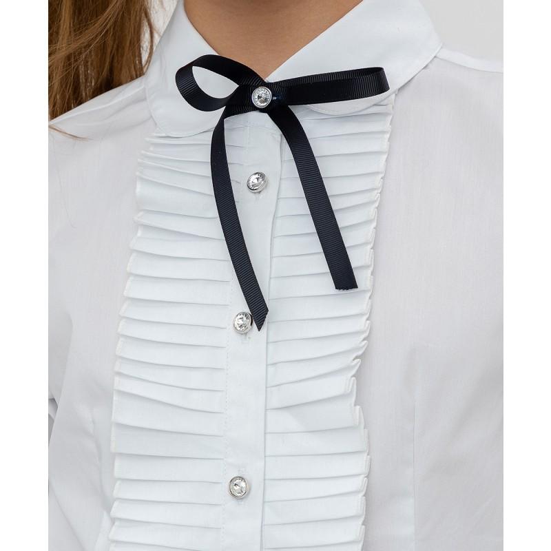 Белая рубашка с бантом Button Blue (фото 5)