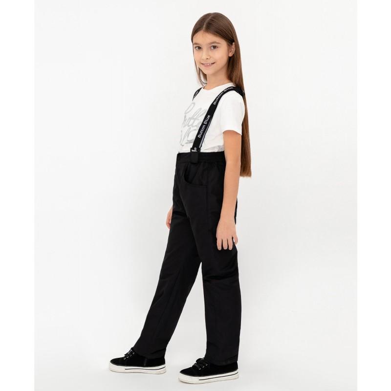 Черные демисезонные брюки Button Blue (фото 5)