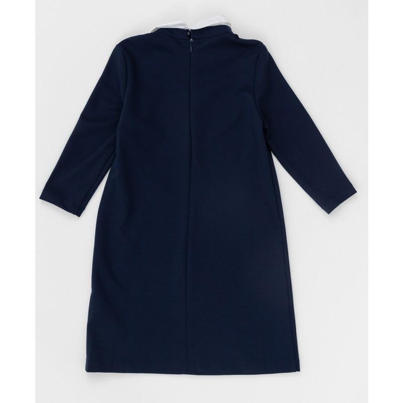 Синее платье с рукавом 3/4 Button Blue (фото 3)