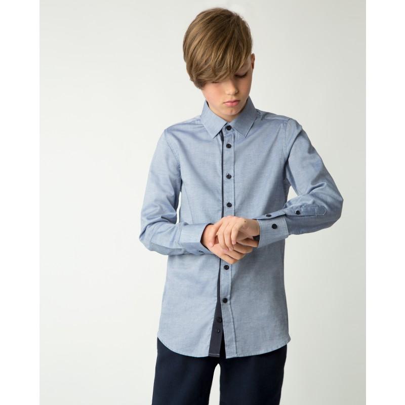 Синяя рубашка Gulliver (фото 2)