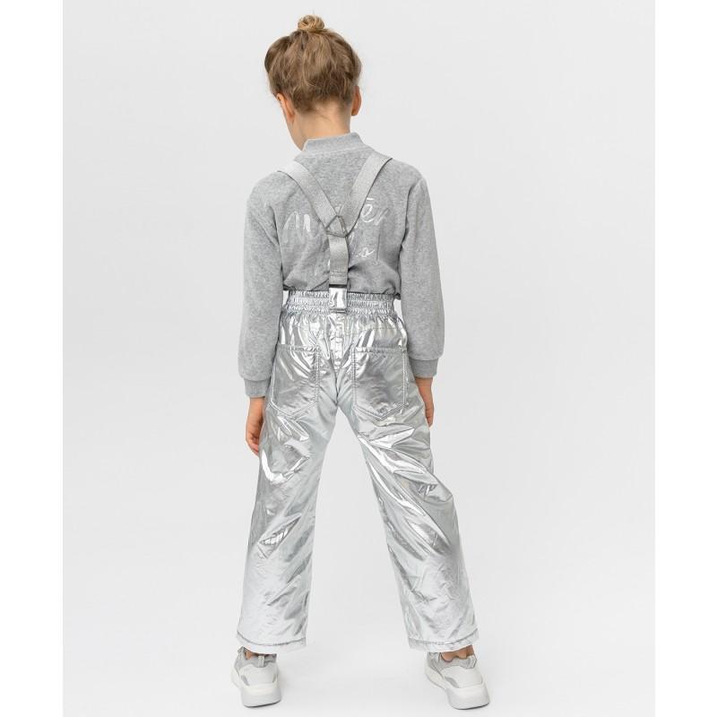 Утепленные серые брюки Button Blue (фото 2)