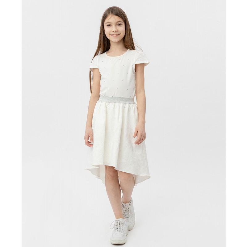 Белая жаккардовая юбка на резинке Button Blue