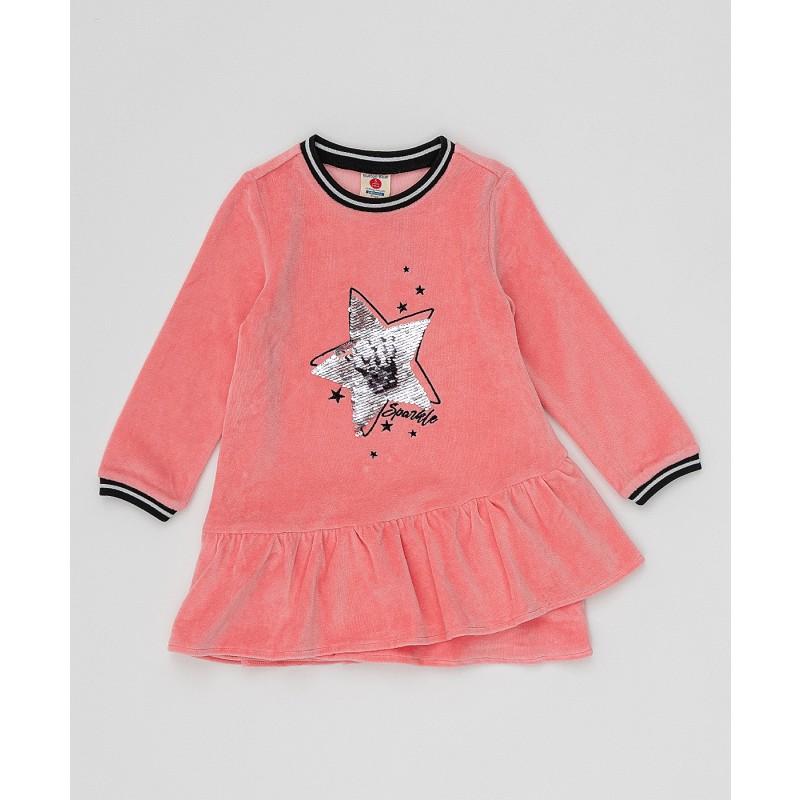 Розовое платье с пайетками Button Blue (фото 3)