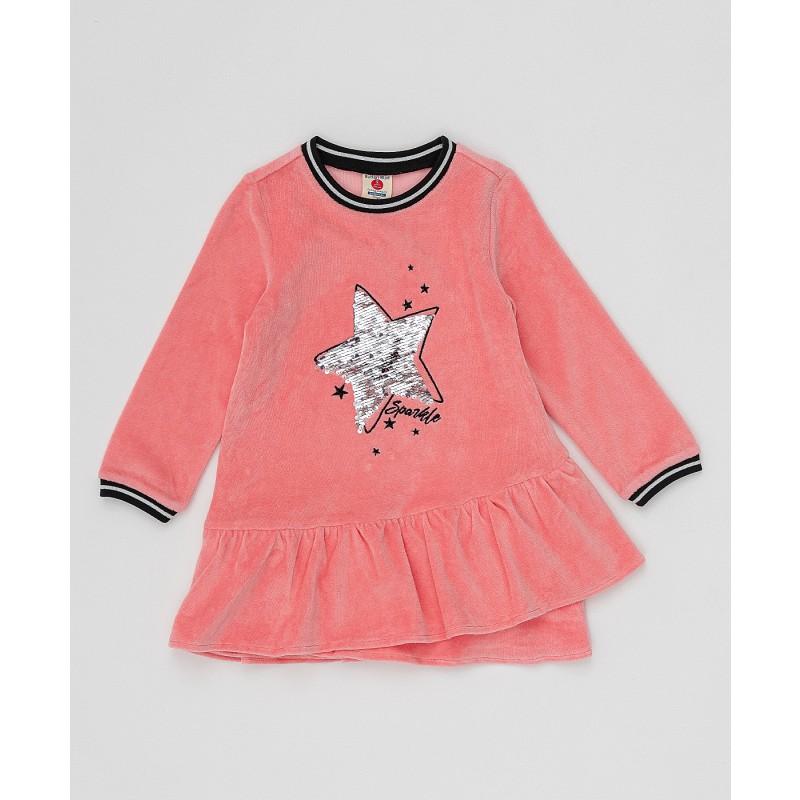 Розовое платье с пайетками Button Blue (фото 4)