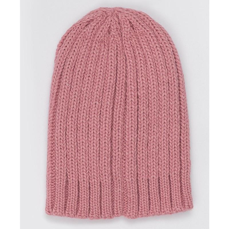 Розовая вязаная шапка Button Blue (фото 2)