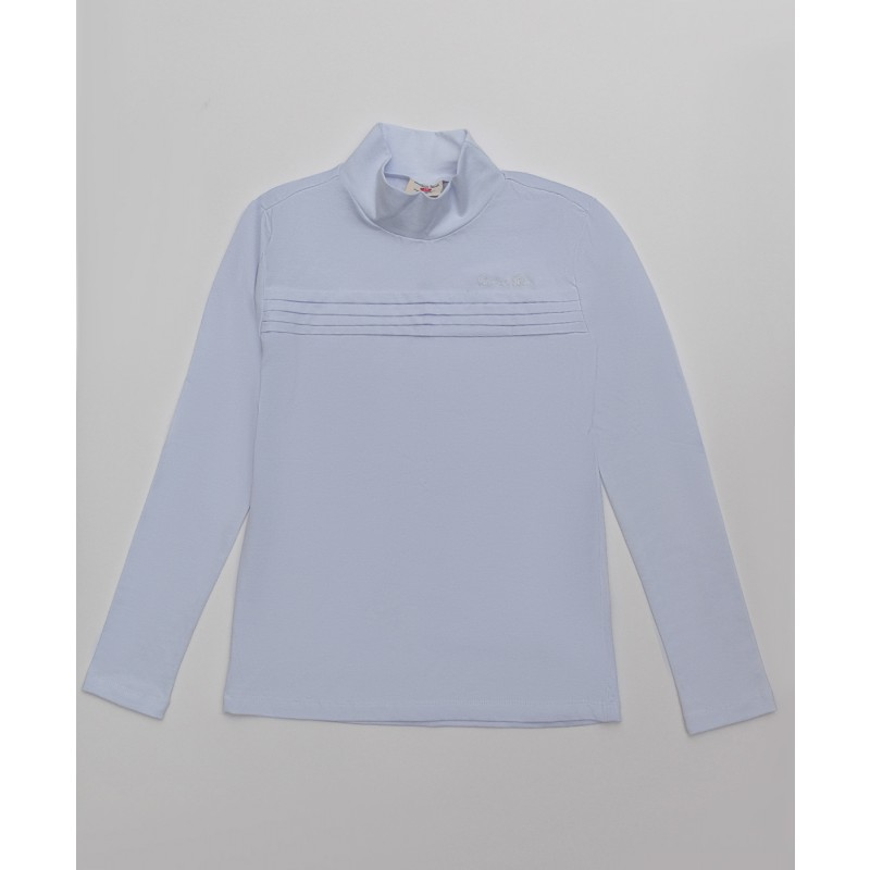 Белая водолазка с вышивкой Button Blue