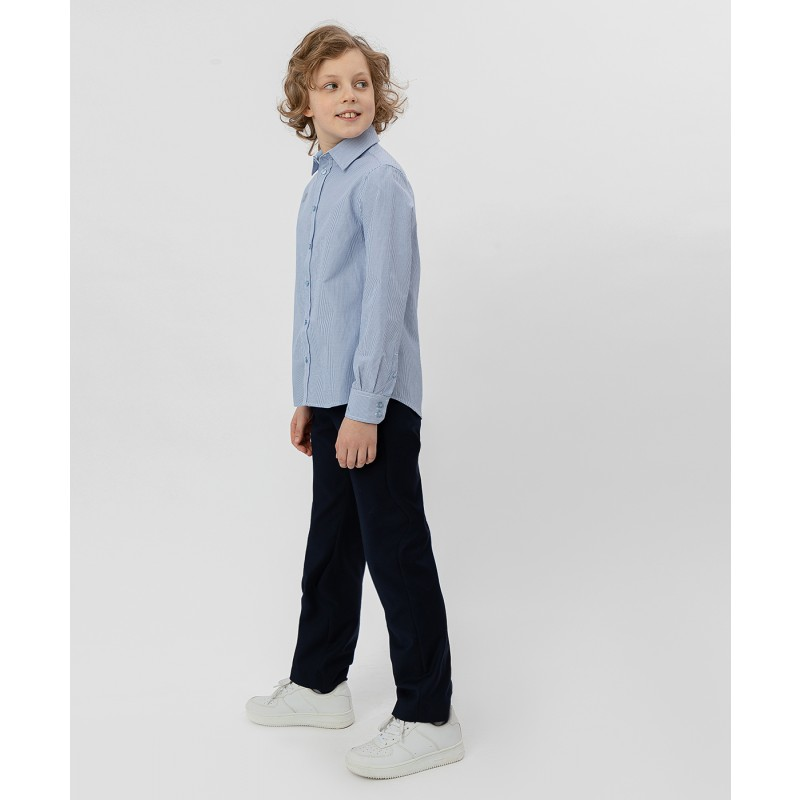 Голубая рубашка в полоску Button Blue (фото 3)