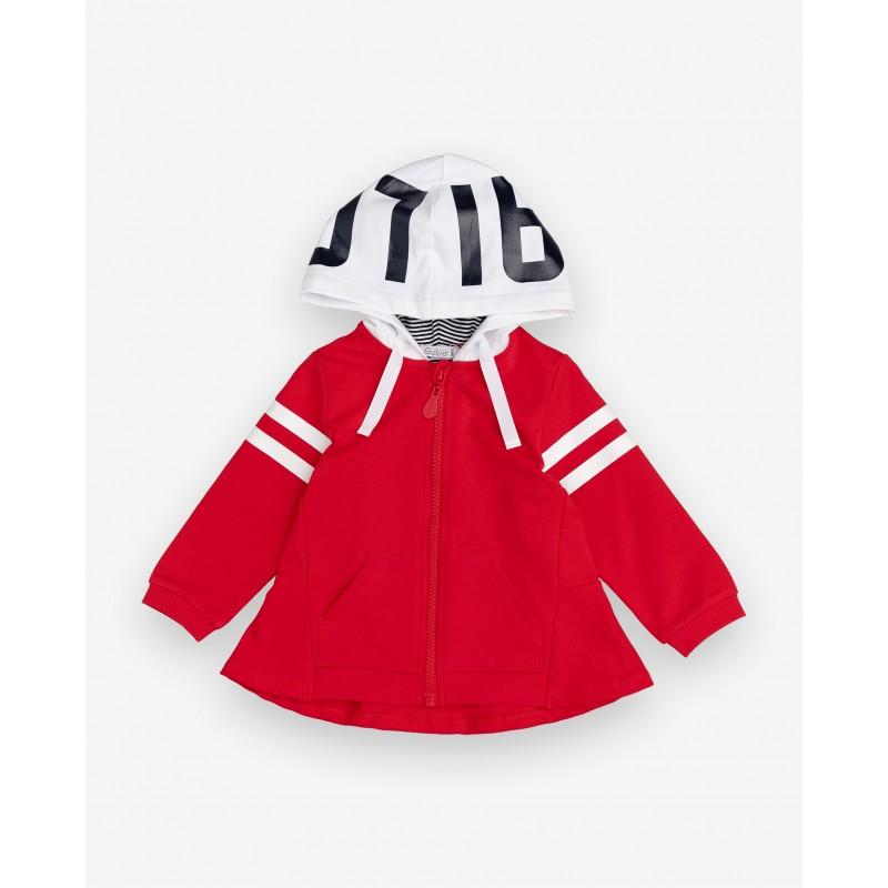 Красная толстовка с капюшоном Gulliver