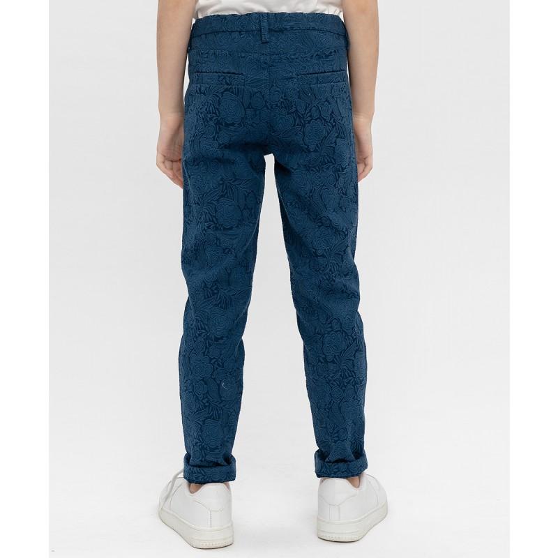 Синие жаккардовые брюки Button Blue (фото 4)