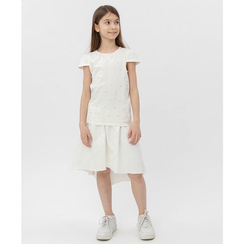Белая футболка с коротким рукавом Button Blue (фото 2)