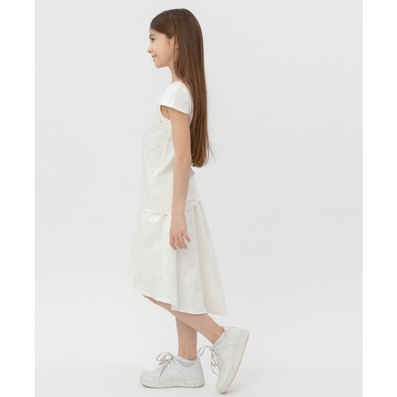 Белая футболка с коротким рукавом Button Blue (фото 3)