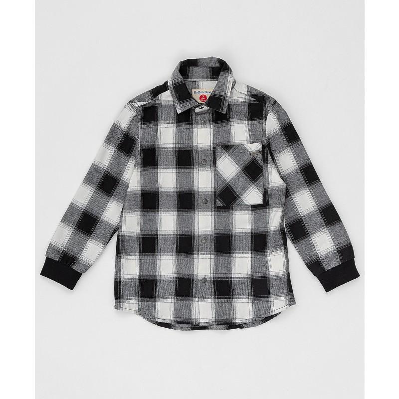 Черно-белая рубашка в клетку Button Blue
