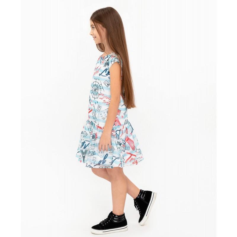 Платье с орнаментом Button Blue (фото 3)