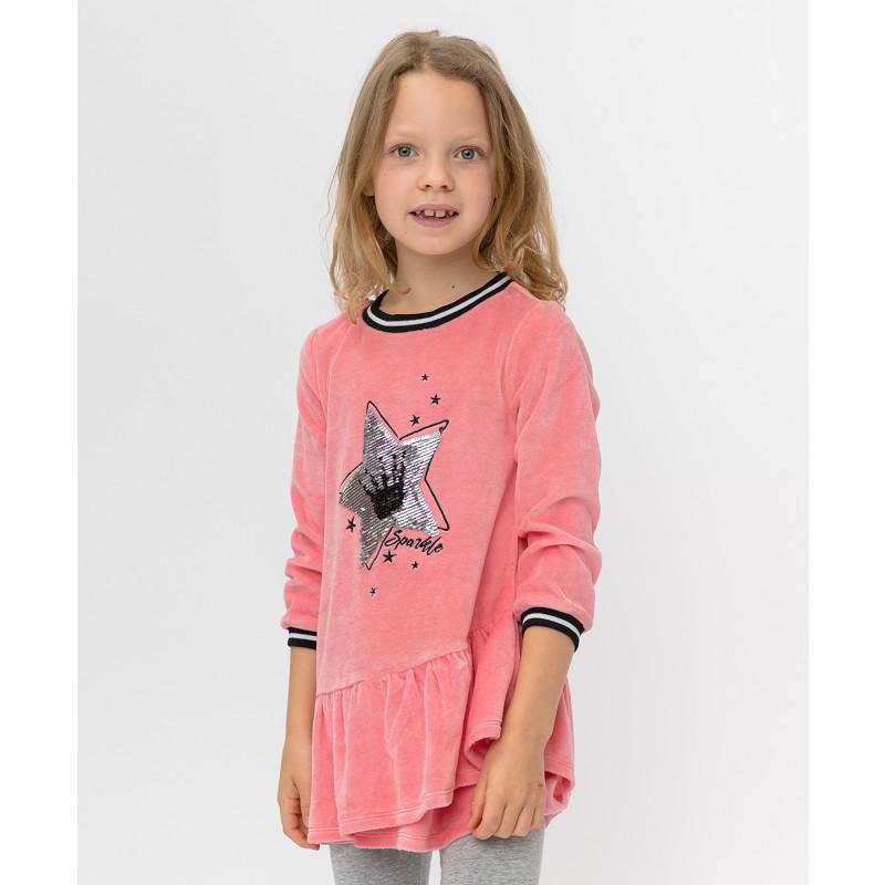 Розовое платье с пайетками Button Blue