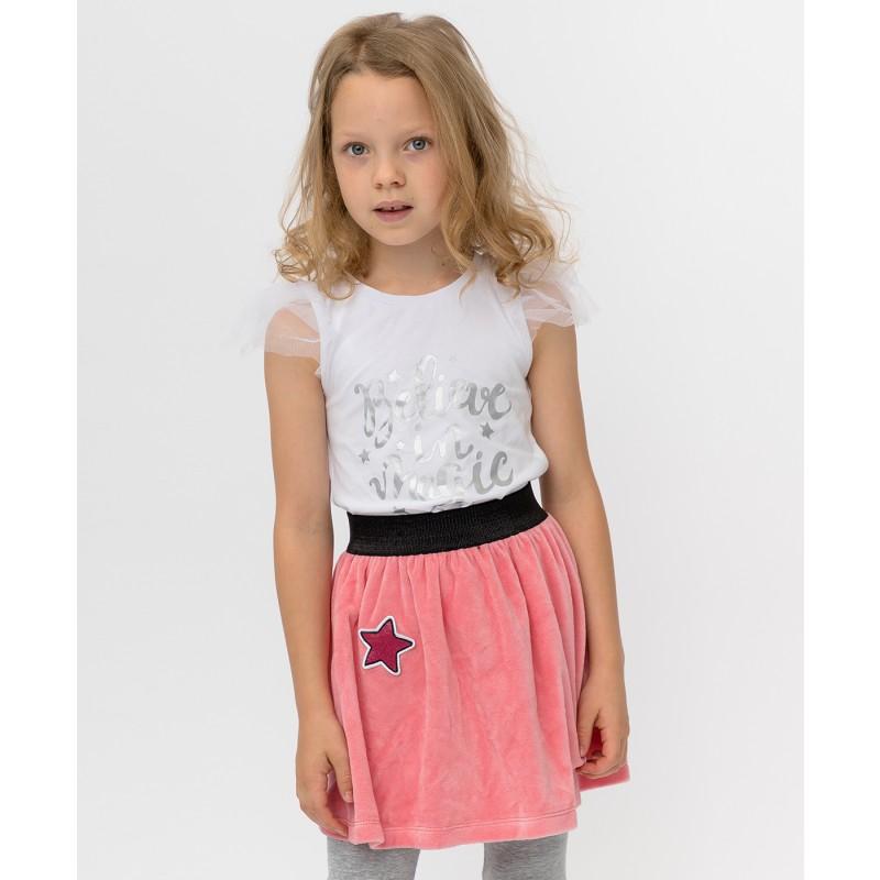Розовая юбка Button Blue