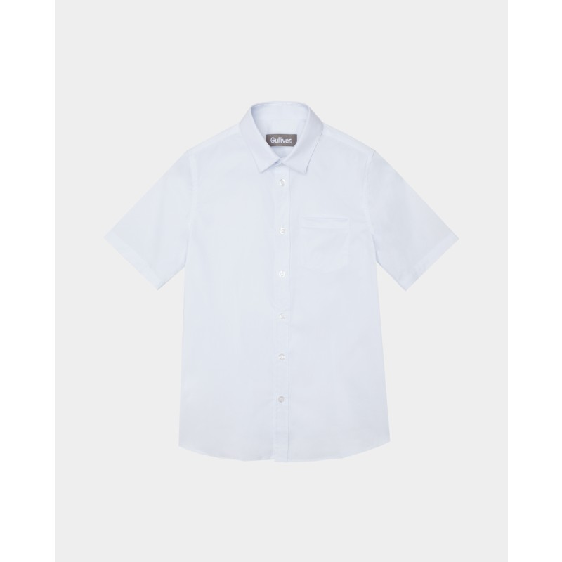 Белая рубашка с коротким рукавом Gulliver (фото 4)