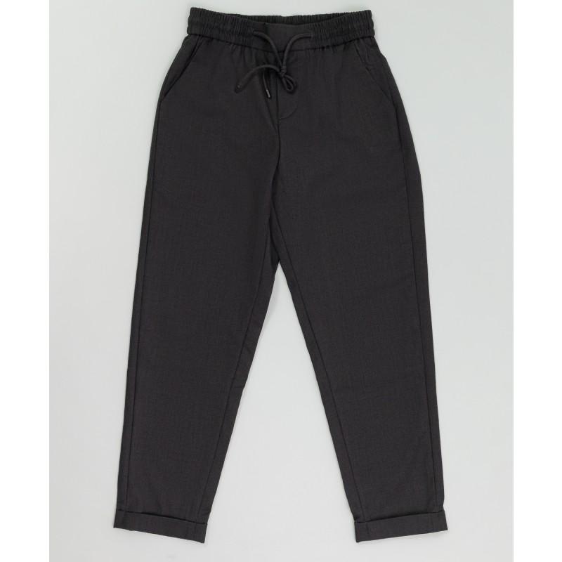 Серые брюки на шнурке Button Blue