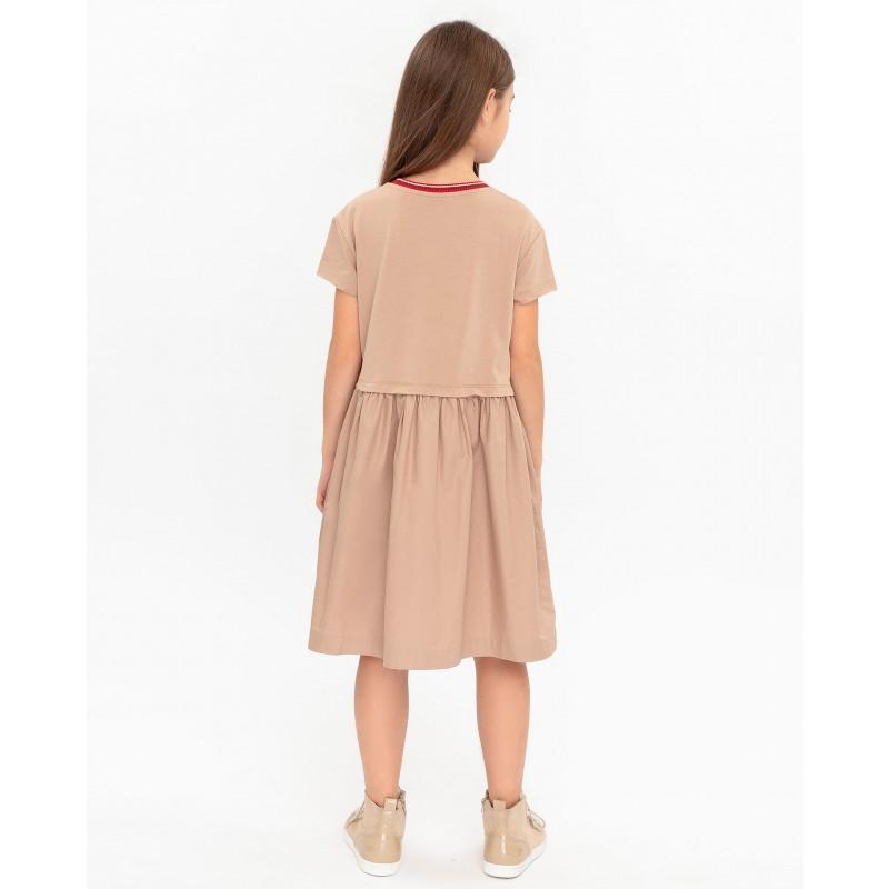 Бежевое платье с принтом Gulliver (фото 4)