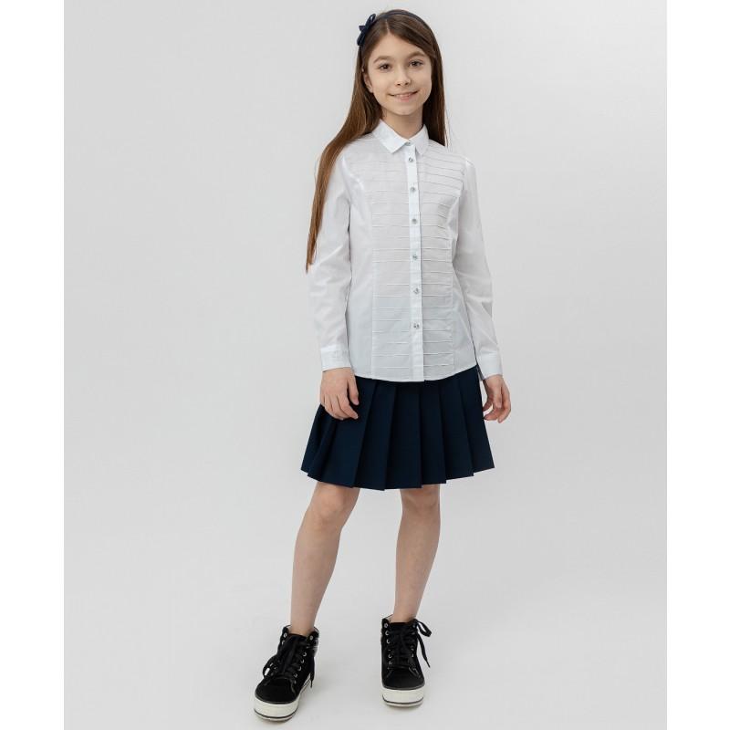 Белая рубашка с пуговицами-стразами Button Blue (фото 2)