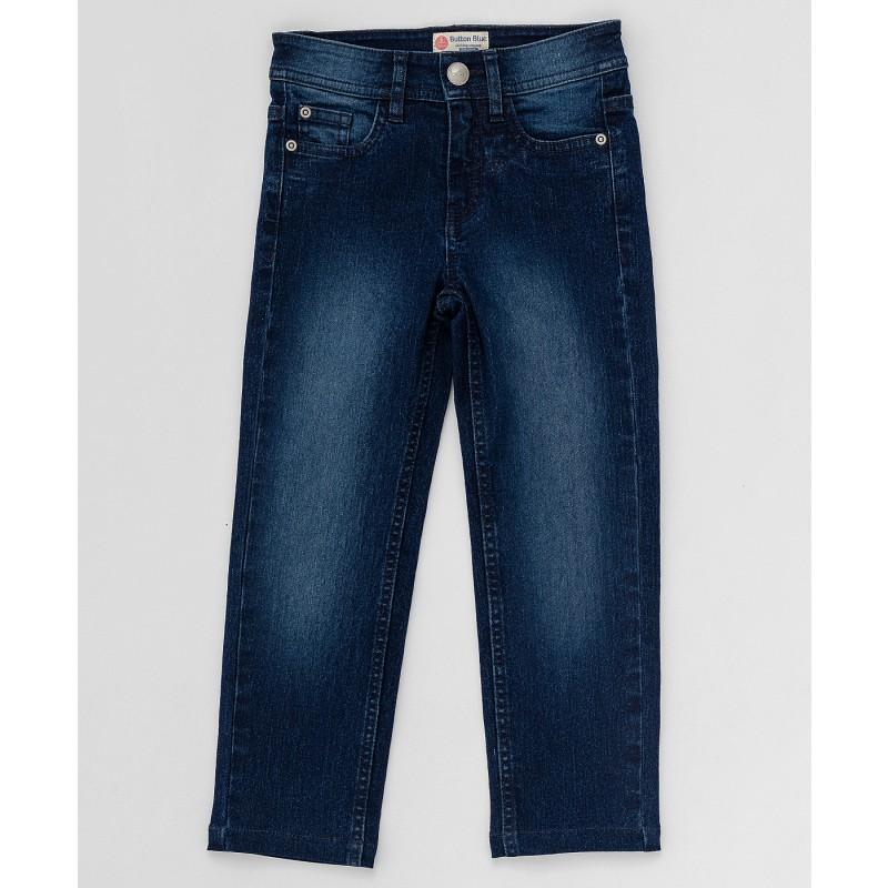 Синие прямые джинсы Button Blue
