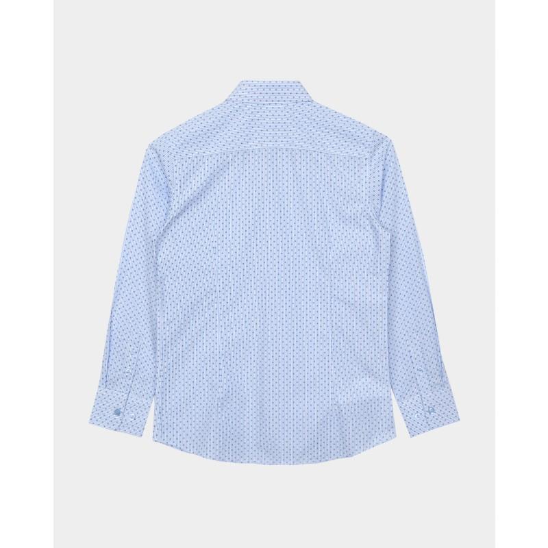 Голубая рубашка в горошек Gulliver (фото 2)