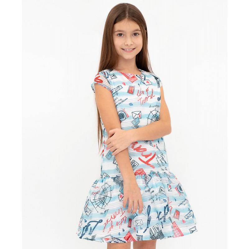Платье с орнаментом Button Blue (фото 2)