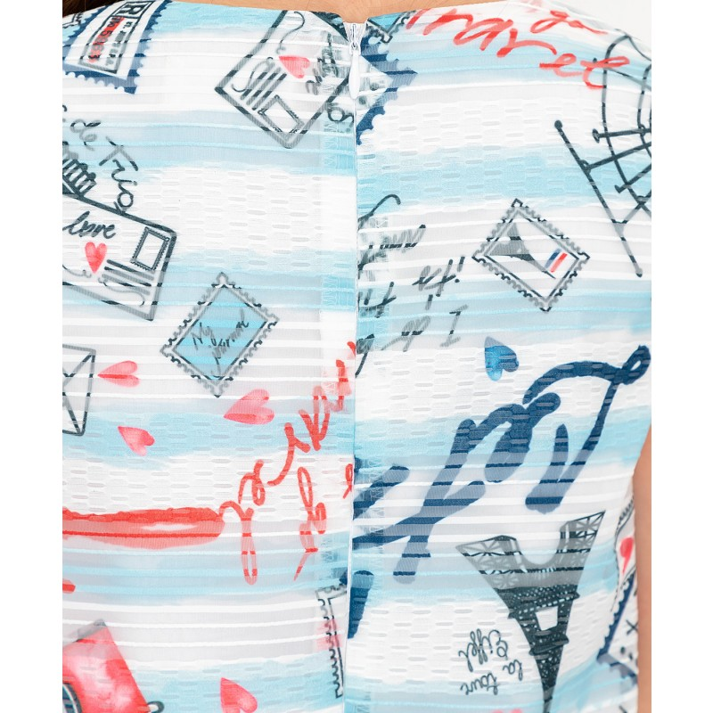 Платье с орнаментом Button Blue (фото 5)