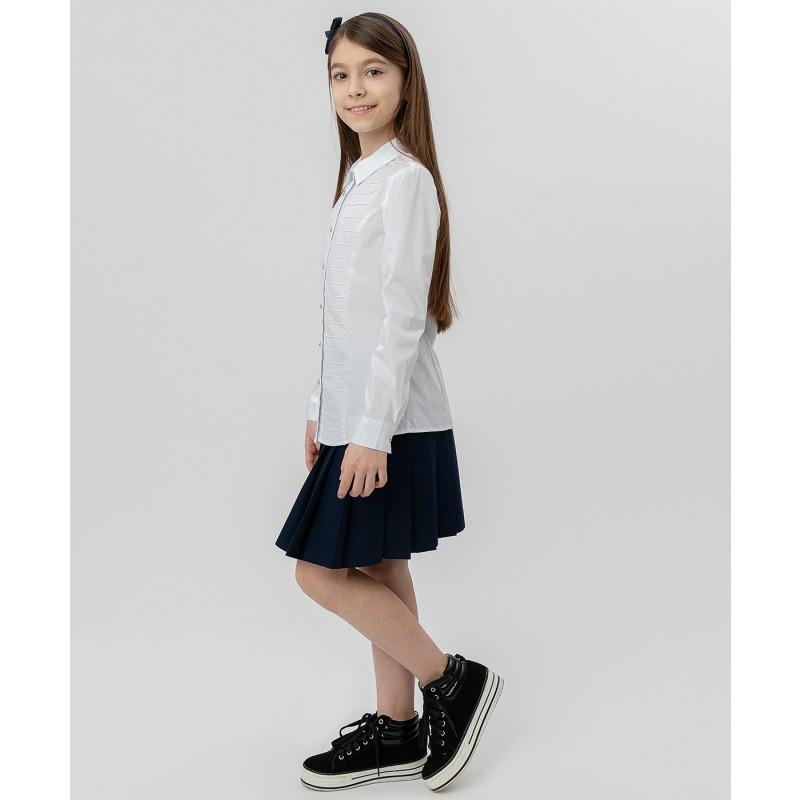 Белая рубашка с пуговицами-стразами Button Blue (фото 3)