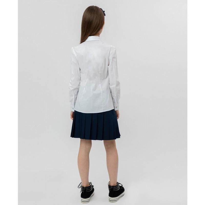 Белая рубашка с пуговицами-стразами Button Blue (фото 4)