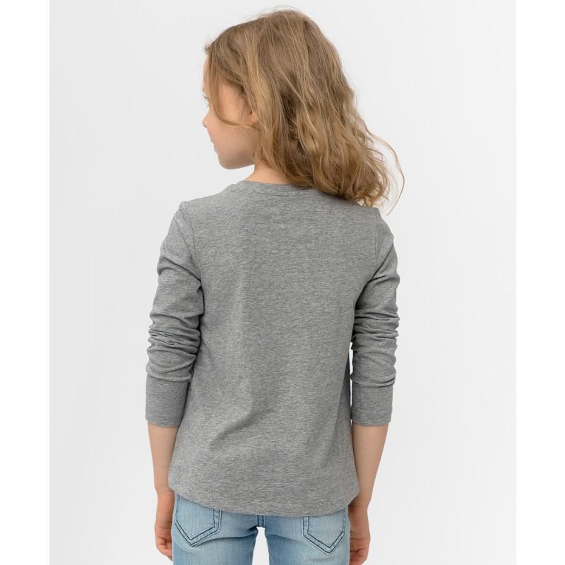 Серая футболка с длинным рукавом Button Blue (фото 2)